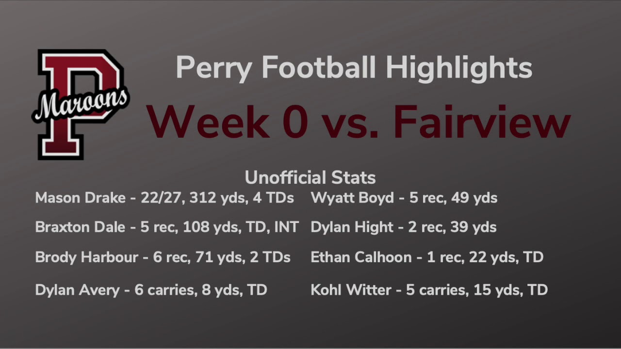 Perry vs. Fairview Radio Highlights