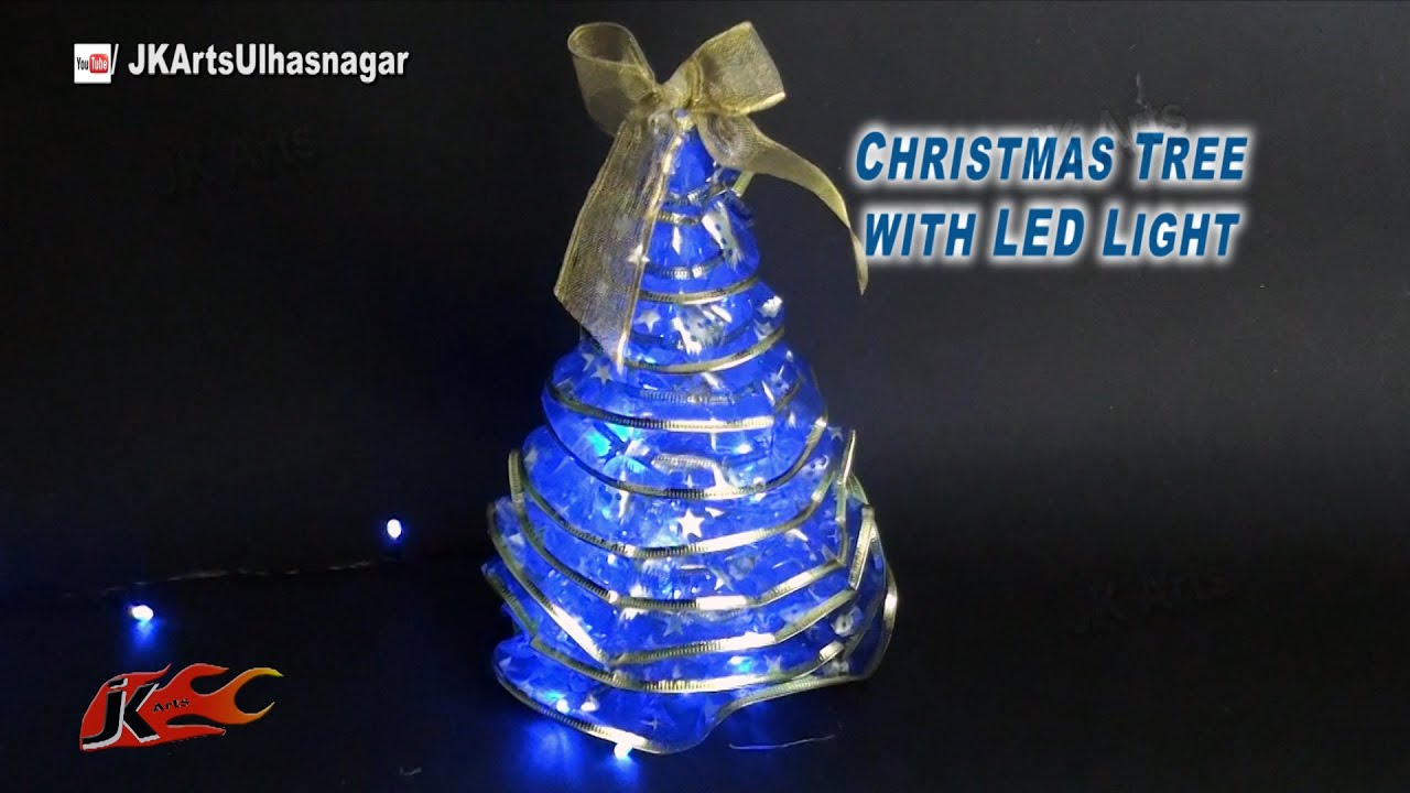 how to make christmas tree with led lights diy christmas decorations jk arts 811 - Christmas Tree Lights Led