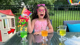 Easy Science Experiment DIY Skittles Rainbow for Kids!!