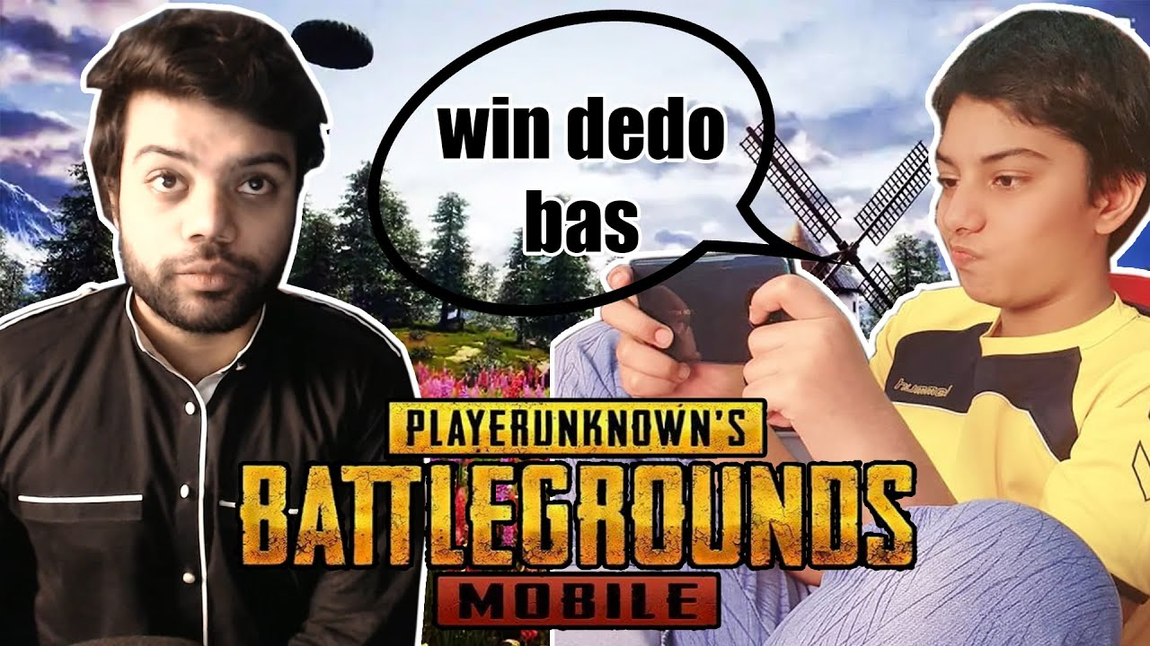 My Little Brother Wanted A PUBG Mobile Win !!!
