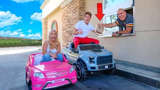 Download GOING IN DRIVE THRUS IN TOY CARS! Mp3 and Videos