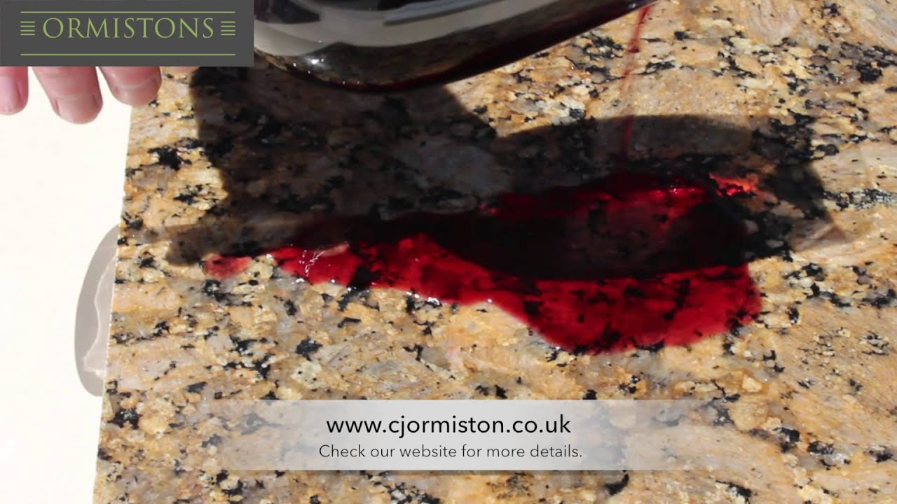 Does Red Wine Stain Granite Youtube
