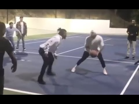Nobody Can Guard Chris Brown At Basketball Park