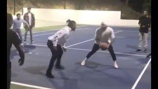 Nobody Can Guard Chris Brown At Basketball Park