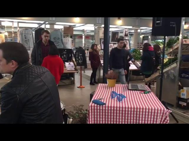 El mercado de abastos de Pontevedra se une al arte este mes