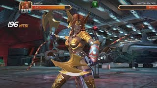 Angela VS Realm of Legends Winter Soldier - Two Rotation Showcase - Marvel Contest Of Champions