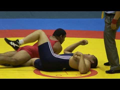 Freestyle Wrestling - Kazakhstan pins India at 96kg