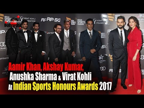 Aamir Khan, Akshay Kumar, Anushka Sharma & Virat Kohli At Indian Sports Honours Awards 2017