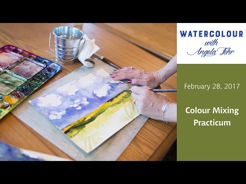 Live Watercolour Lesson with Angela Fehr: Colour Mixing Practicum