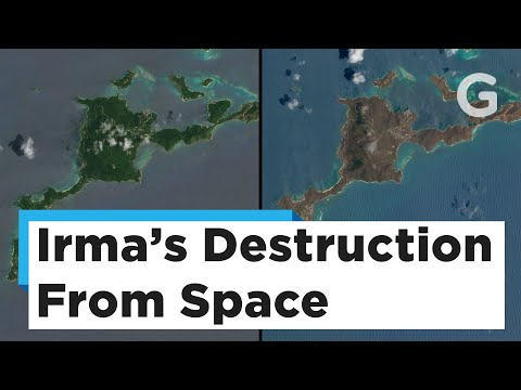 Satellite Images of The Caribbean Islands Before and After Hurricane Irma