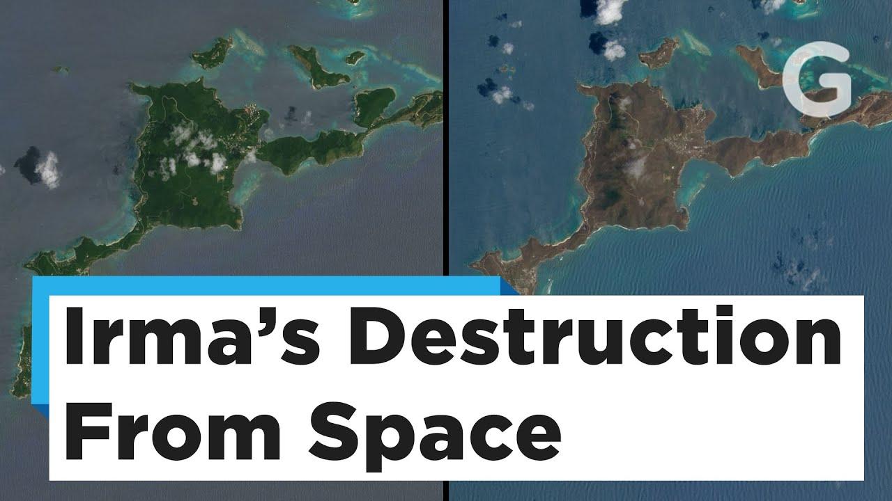 Satellite Images Of The Caribbean Islands Before And After