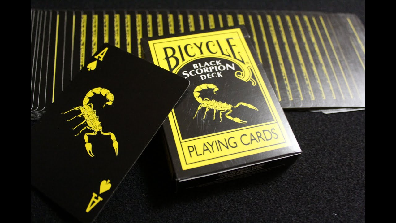 Bicycle Black Scorpion Deck Review - YouTube