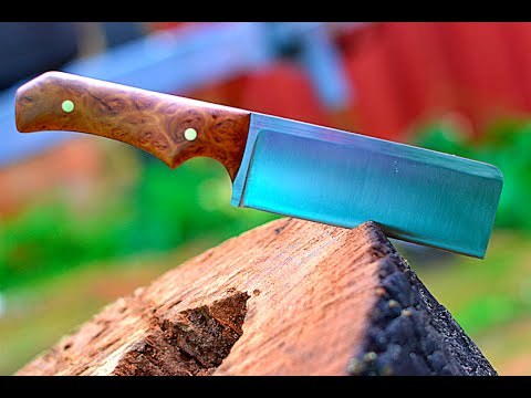 Knife making - making a mini cleaver style knife