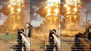 Battlefield 4: GeForce GTX 860M 900p vs PS4 vs Xbox One Frame-Rate Test
