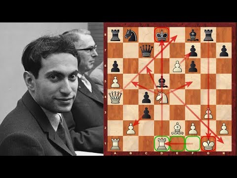 Mikhail Tal's mega-complex Chess game against Dieter Keller played at the 1959 Zurich tournament