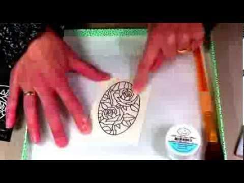 Silk microfine glitter coloring with alcohol markers for Elizabeth craft microfine glitter