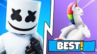 BEST MARSHMELLO SKIN - BACKBLING Combos à Fortnite! (Top Fortnite Skin - Backbling Combinations)