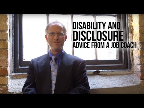 Disability and Disclosure: Advice from a job coach