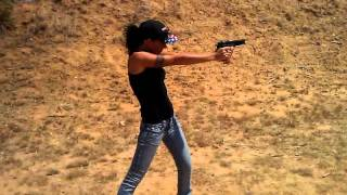 Tiffany With The Ruger P85.