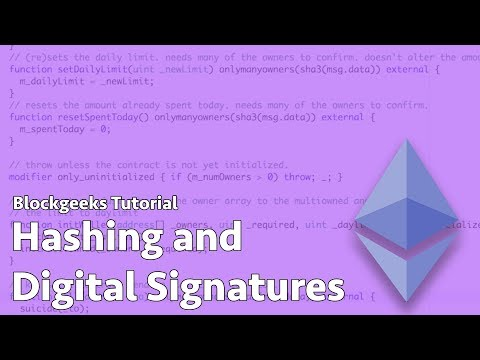 What is Hashing & Digital Signature in The Blockchain?