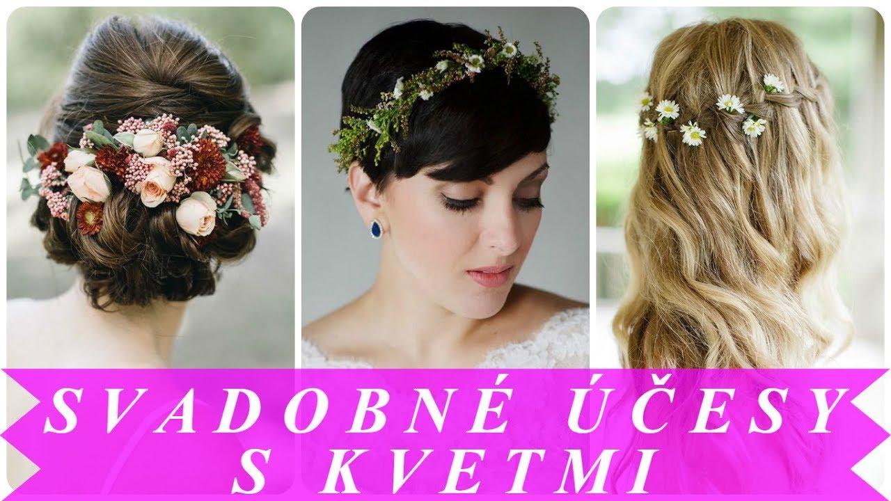 4db973b42f77 Pekne svadobný účes s kvetmi 2018 - YouTube