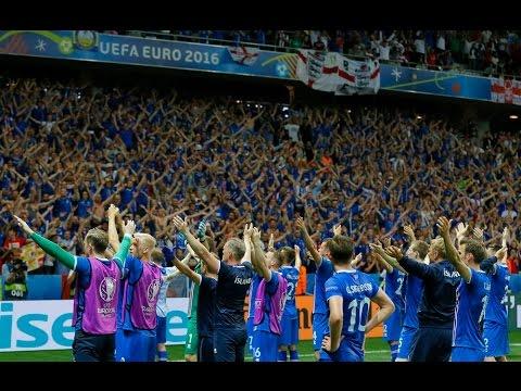 Исландия - Англия.  Видео из исландского сектора  Евро 2016  Чемпионат