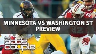 Holiday Bowl: Washington St vs Minnesota | The Odds Couple & Troy West | NCAAF Picks