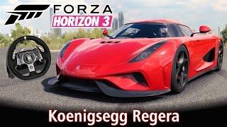 Top Speed: Koenigsegg Regera + Forzavista! Acima dos 400 Km/h! 😜   Forza Horizon 3 + G920 [PT-BR]
