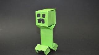 Como hacer un Creeper de Minecraft. Origami