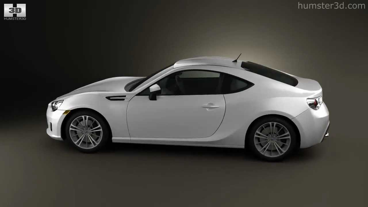 Subaru BRZ 2013 by 3D model store Humster3D.com - YouTube