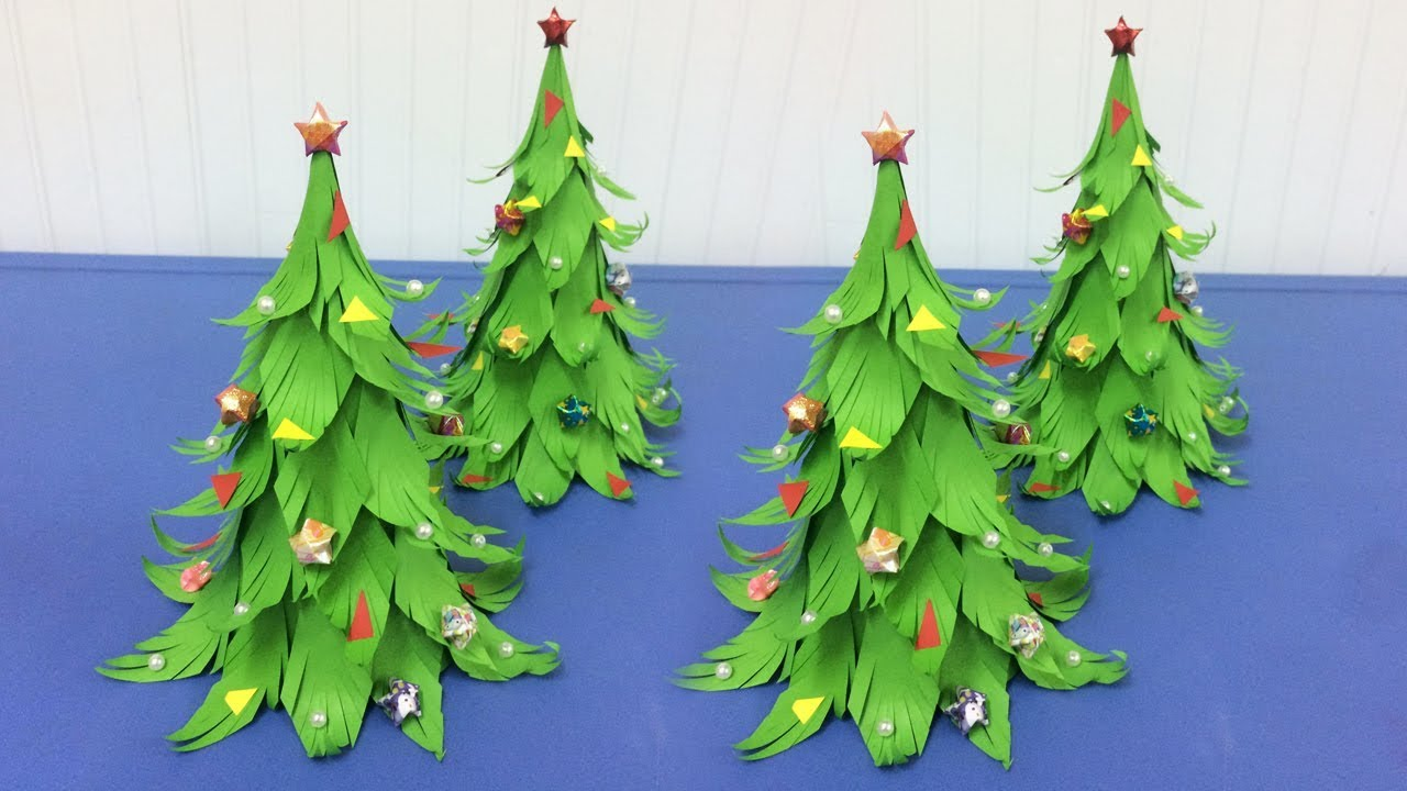 How To Make Paper Christmas Tree Making Paper Xmas Tree Step By