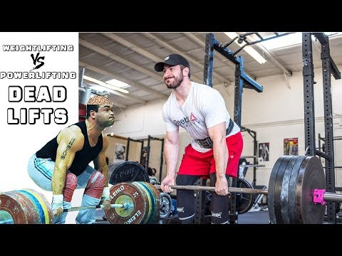 Deadlifts - Weightlifting vs Powerlifting