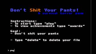Do Not Shit Your Pants Gameplay and Commentary