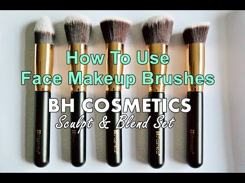 BH Cosmetics Face Makeup Brushes Set Tutorial | How To Use