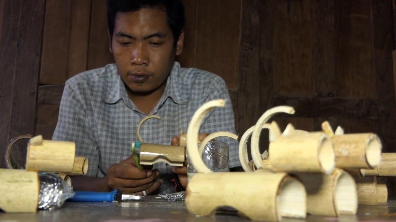 Inspiring Kurangi Pengangguran Dengan Kreasi Bambu Unik Youtube