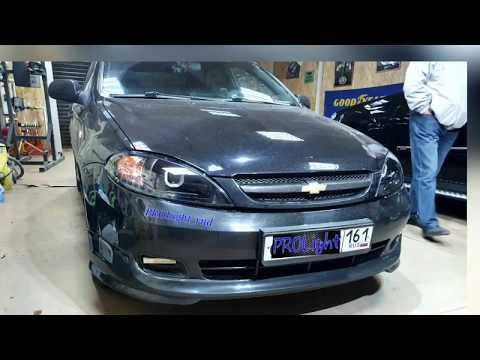 Chevrolet Lacetti. Бюджетный вариант улучшения света. Установка линз.