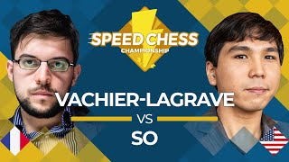 Maxime Vachier-Lagrave vs. Wesley So: 2019 Speed Chess Championship Video