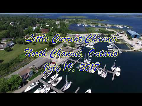 Little Current, Manitoulin Island, Ontario -  07/19/2017 - Cruise ship