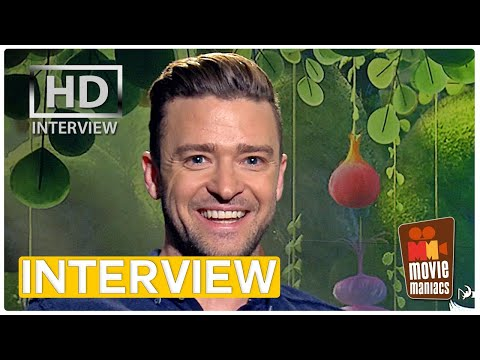 Justin Timberlake talks TROLLS | exclusive interview at Dreamworks (2016)