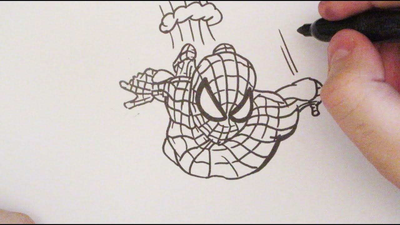 COMO DIBUJAR A SPIDERMAN  Dibujo de Spiderman  How to Draw