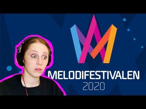 REACTING TO MELODIFESTIVALEN FINALISTS // SWEDEN // EUROVISION 2020