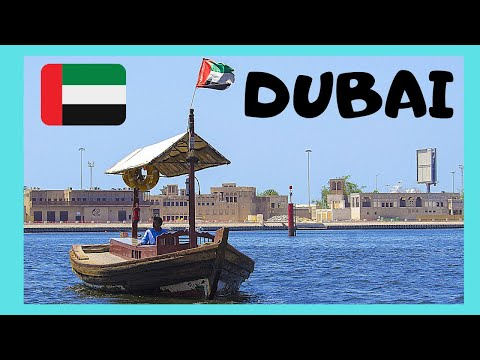 DUBAI: Crossing the DUBAI CREEK on an BOAT (ABRA), United Arab Emirates