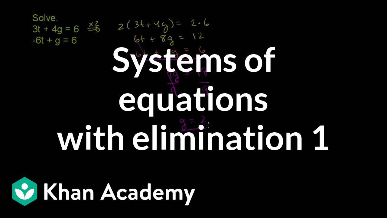 Example 2: Solving systems by elimination | Systems of equations | 8th grade | Khan Academy