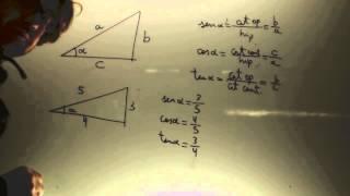 Seno coseno y tangente Matematicas 4 ESO Academia Usero Estepona