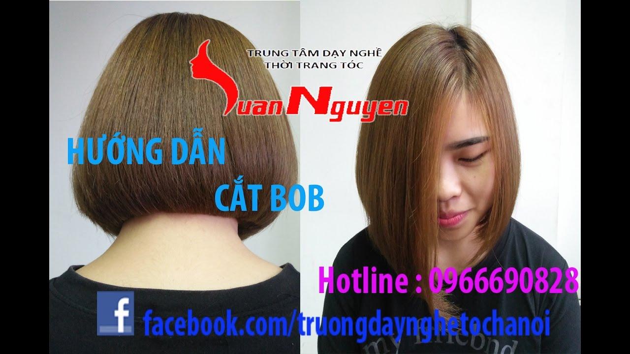 Hướng dẫn cắt tóc Nữ Bob tầng thấp – Dạy cắt tóc Nữ LUANNGUYEN