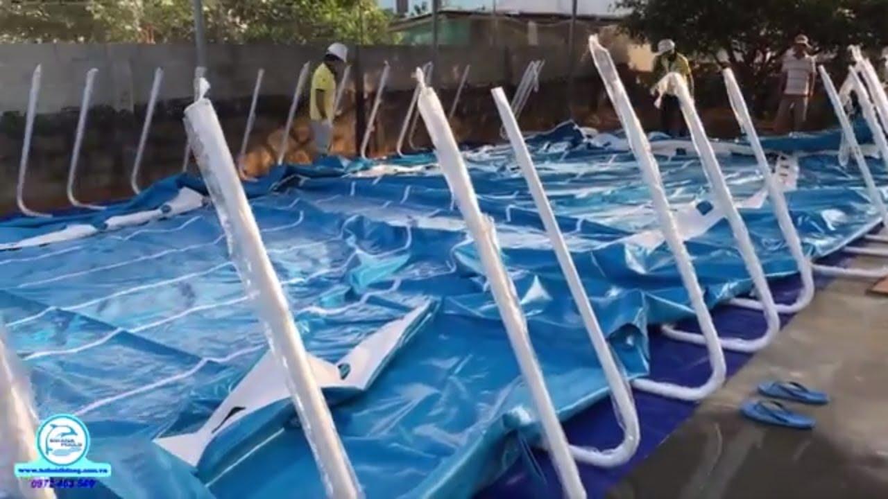 Quy trình lắp ráp hồ bơi di động | Hồ bơi di động Swana | Mô hình hồ bơi giá rẻ | Swana Pools