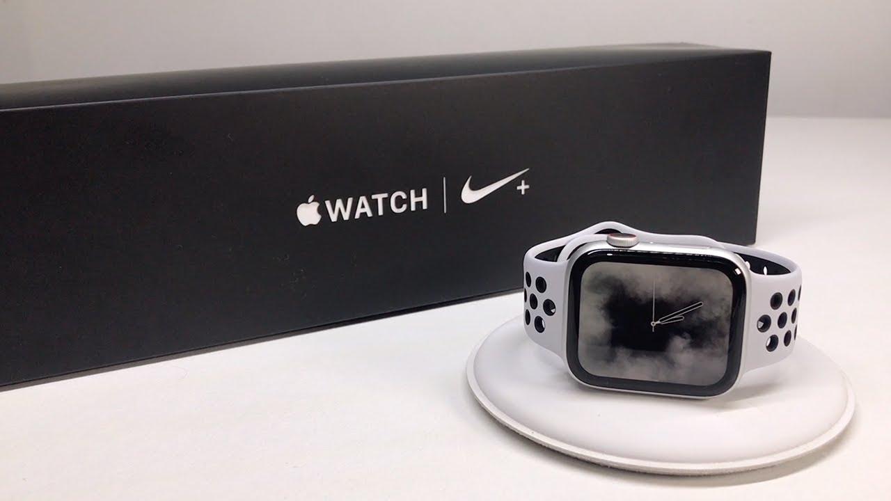 Deudor Otoño Acerca de la configuración  Apple Watch Series 4 Unboxing & First Look (Nike+ 44mm Cellular) - YouTube