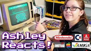 Ashley Reacts to retro Amstrad, Nintendo, Atari, Apple, Commodore!