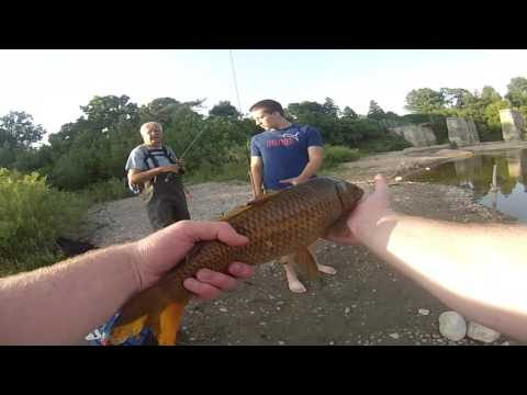 Fishing in the Thames River and crossing the Springbank Dam