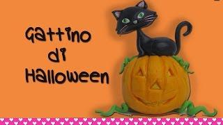 Come Fare Un Gatto Nero Per Halloween In Pasta Di Zucchero